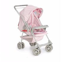 Carrinho Berço Bebê Milano Ii Galzerano Rosa Bebê Lançamento