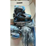 Patines 3 En 1 Rollerface (azul Con Negro)