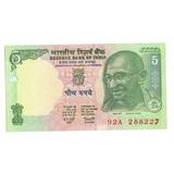 Argentvs * India Billete De 5 Rupees 2002 - P#88a - Gandhi