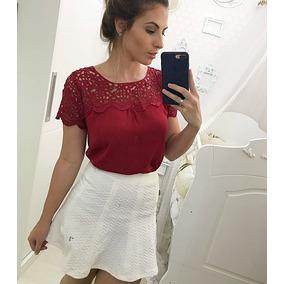Blusas Femininas Camisetas Gospel Linda Renda Guipir 2821