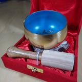 Cuenco Tibetano Bronce 200grs. En Caja! Azul! India!