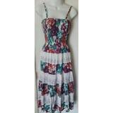 Vestido Hindú De Dama Estampado Floral Importado