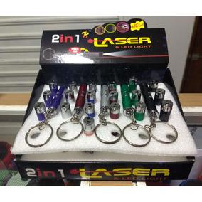 Caixa Com 24 Laser Chaveiro Lanterna Led 2 Em 1 Lacrado