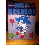 Caja De Regalos, Piñatas, Decoracion Sonic