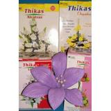 18moldes Tikas P/flores De Goma Eva Orq.lirio Cala Hojas