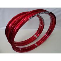 Aro Roda Lander Dt180 200 Xtz 125 21x160+18x25 Par Vermelho