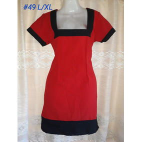 Vestido Rojo Estilo Pin Up (#49). Talla L/xl