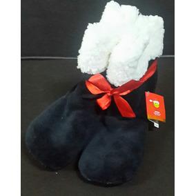 Pantuflas De Navidad Tipo Botas Peludas Para Damas