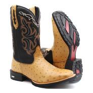 Bota Texana Country Couro Butina Cano Alto Promoção Hoje