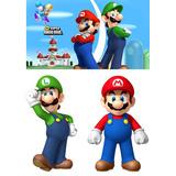 Kit Mario Bros 2 Peças 80cm + Painel(05) 2x1,50mt Envio 48hs