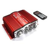 Amplificador De Sonido P/carro Stereo Usb/bluetooht/aux 60w