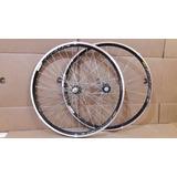 Par De Rodas Bicicleta Aero Aro 26 C/raio Inox