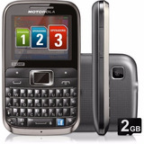 Celular Motorola Ex117 (3chip) 2g 2.0 Teclado(qwerty) 2mp