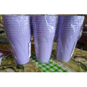 Vasos De Colores Lila 7 Oz Desechables 10 Unidades