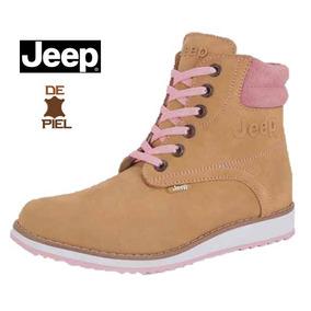 Botin Jeep Para Dama Color Miel/rosa De Piel Mod.518878