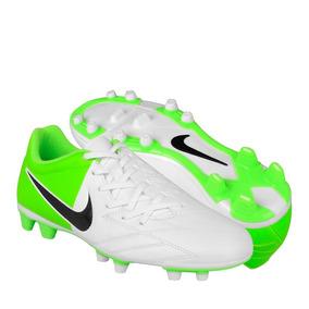 Zapatos De Fútbol Nike Para Hombre Simipiel Blanco Con Verde