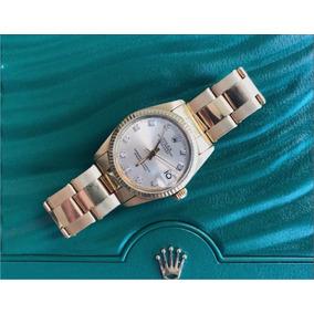af058b9ef51 Rolex Datejust 31mm Todo De Ouro Amarelo Com Diamantes!