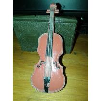 Antiguo Violin Miniatura, Metálico