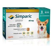 Antipulgas Zoetis Simparic 40 Mg Para Cães 10,1 A 20 Kg - 3