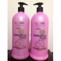 Escova Progressiva Turmalina Rosa Coolth -gloss E Shampoo 1l