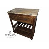 Mueble Baño Rustico Antiguo Vintage Cubierta Oníx Mármol