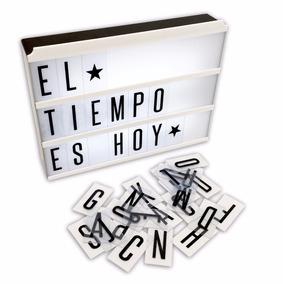 Cartel Luminoso - Pizarra - Con Letras - Light Box - Usb