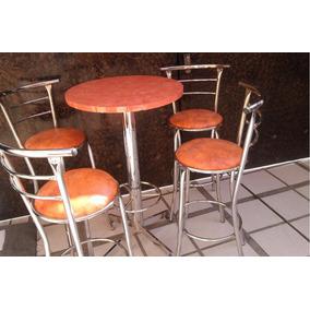 Mesa Periquera Con 4 Bancos Para Bar, Cafeteria, Antro, Rest