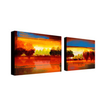 Red Dawn Multi-panel Canvas Art Set By Miguel Paredes