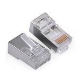 Conector Rj45 Cat6 P/ Rede 8p/8c Metálico (pct C/ 10 Pçs)