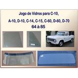 Jogo De Vidros C-10 D-10 A-10 1964 À 1985 06 Peças Temperado