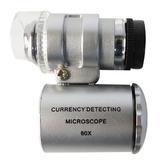 Mini Detector Billetes Falsos Microscopio Con Luz Led Y Uv