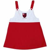 Vestido Infantil Alças Flamengo Torcida Baby
