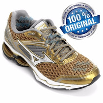 Mizuno Wave Creation 17 100% Original Golden Runners+ Brinde
