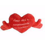 Almofada Coração Com Braços Amar Você É... 38 Cm