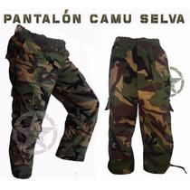 Pantalon Tactico De Bolsas Comando Militar Camuflaje Gotcha