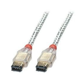 Cable Firewire 1394 Transparente 6 Pines A 6 Pines