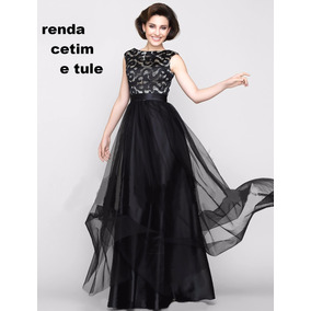 Vestido Lindo Em Renda Com Cetim E Tule Noite Casamento