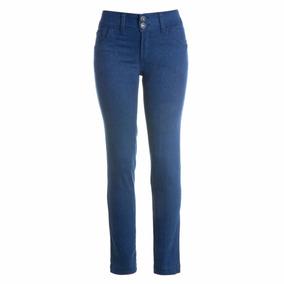 12 Calças Jeans Stretch Cigarrete Cintura Alta Azul Eruption