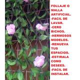 Malla Follaje Enrredadera Flor Articial Jardin 2 Mt X 1 Mt
