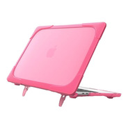 Carcasa Case Funda Macbook Anti Impacto Pro Air Rosa Soporte