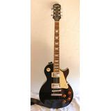 Guitarra Les Paul Negra Ephiphone Standard Plustop