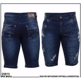 Bermuda Masculina Pit Bull Jeans Original Ref 25013