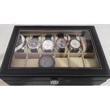 Estuche Exhibidor Para 12 Relojes Alhajero Excelente Regalo