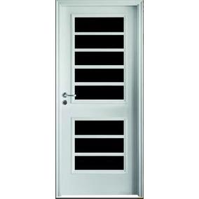 2 Vidrio Y Reja Puerta Exterior Reforzada Oblak 1702 80cm