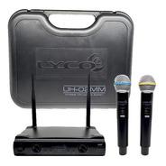 Microfone Sem Fio Lyco Duplo De Mão Uh02mm Promoção