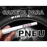 Caneta Tinta Preta Pinta Pneus Carro Moto Pneu