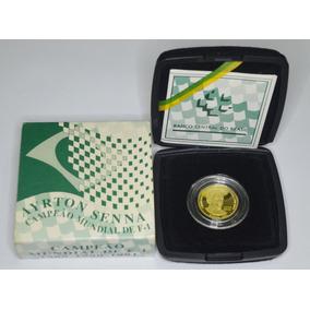 Moeda Comemorativa De Ouro - Ayrton Senna - 1995