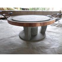 Kit Grelhe 32 Cm + Fogareiro Pedra Sabão Direto Da Fabrica.