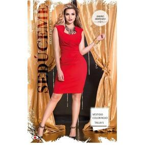 Vestido Color Rojo Talla S