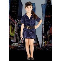 Disfraz Policia Nena Gorra Talle: 3 Disfraces Candela 43357